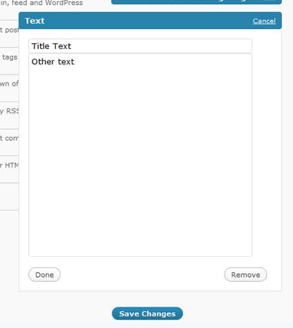 Open Text Widget